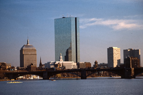 Boston Back Bay & Longfellow Bridge - 1986