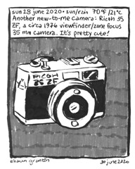 Journal Comic, 28 June 2020. Ricoh 35 ZF Camera.