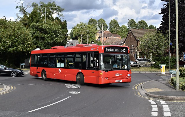 Go-Ahead London Metrobus scania omnicity N230UD - YN08 OAS 561 - Route 358