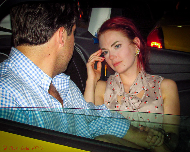 Couple in a Taxi Cab