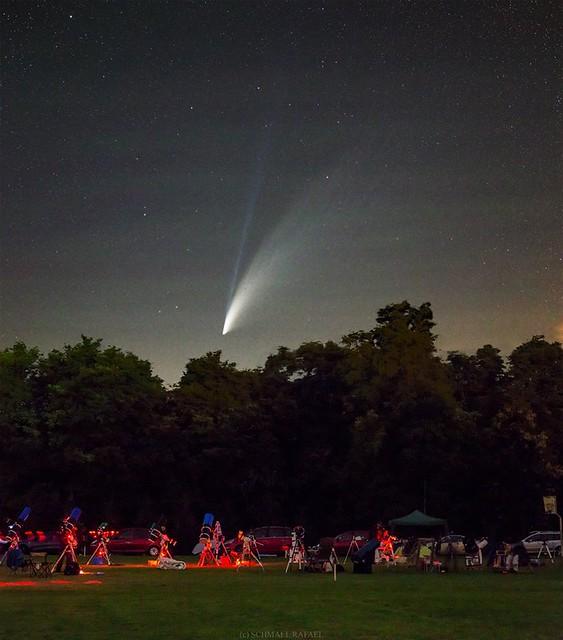 VCSE - Amatőrcsillagászok, távcsöveik és a C/2020 F3 (NEOWISE) üstökös az őrimagyarósdi VEGA-táborból 2020. július közepén- Kép: Schmall Rafael