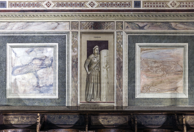 Giotto, the Virtue of Fortitude, Arena Chapel