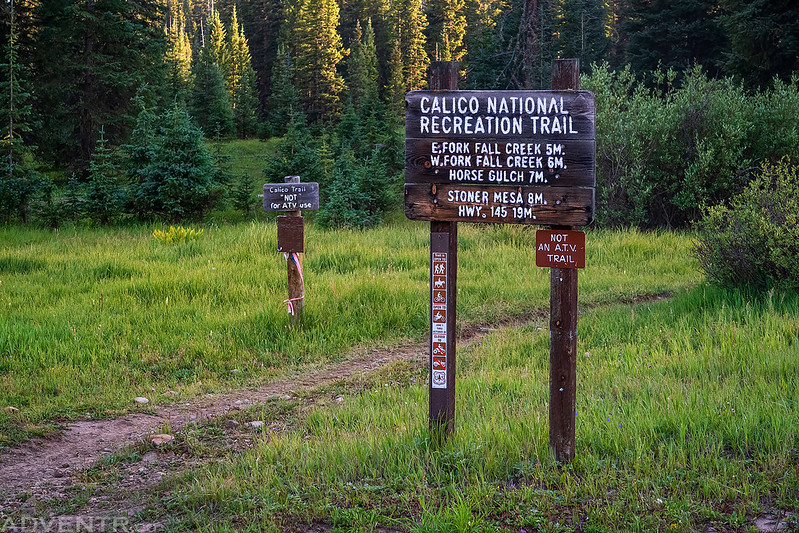 Calico National Recreation Trail Sign