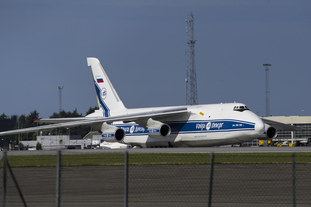 AN-124 RA-82078 parked on Stavanger Airport