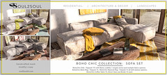 Soul2Soul. BohoChic Sofa Set at The Liaison Collaborative (TLC) event