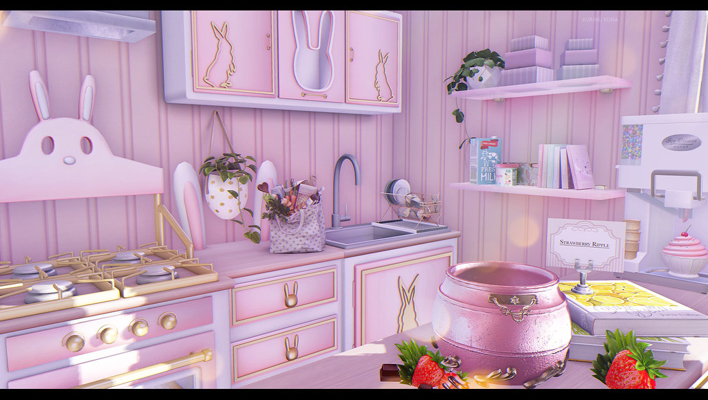 Kitchens come in pink too