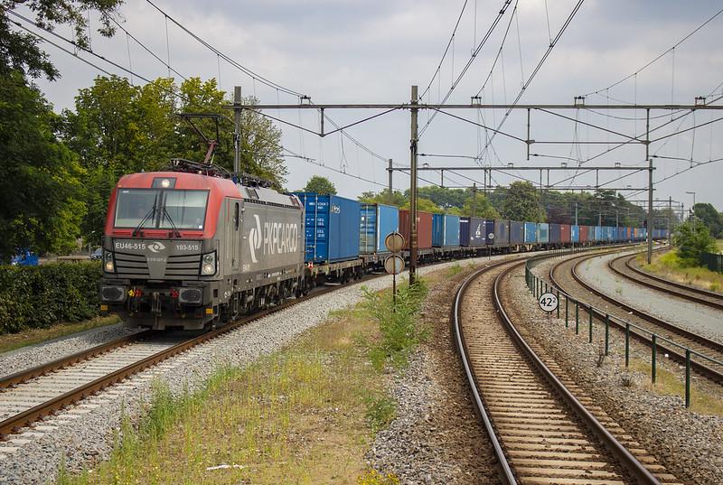[Oss, Station] PKP  Cargo 193 515 met containertrein