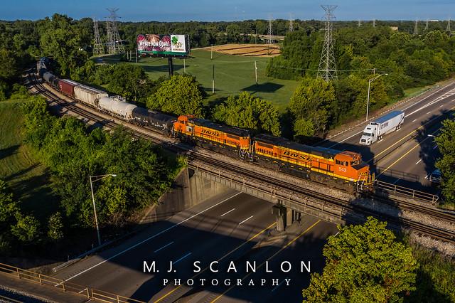 BNSF 543 BNSF 541 | GE B40-8W | CN Memphis Subdivision