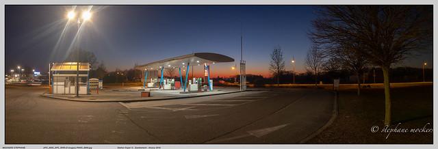 Station Super U , Gambsheim , Alsace 2019