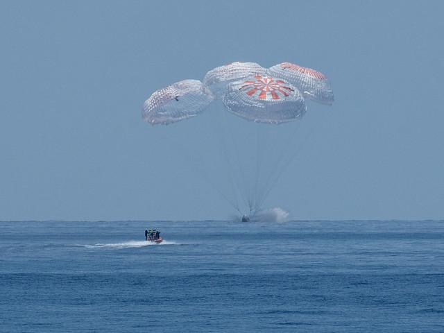 SpaceX Demo-2 Landing (NHQ202008020018)