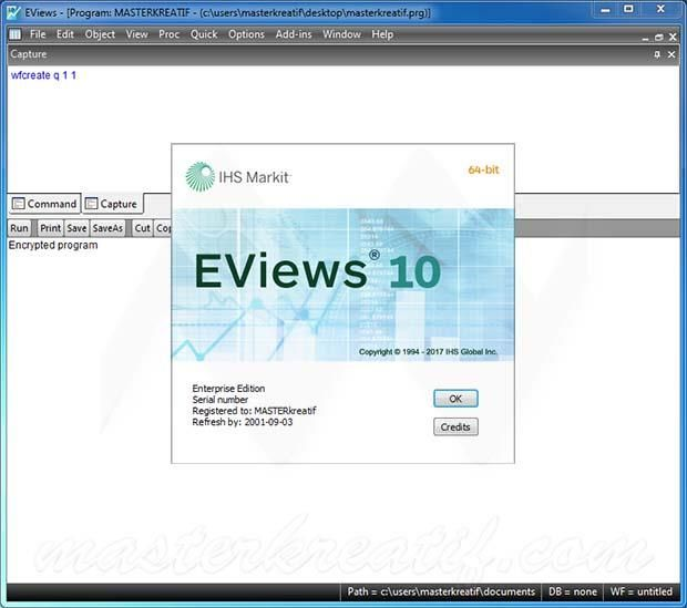 EViews Enterprise Edition 10.0 x86 x64 full license