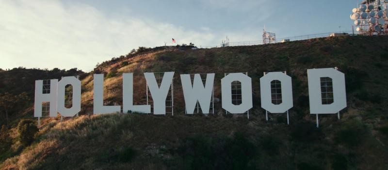 Hollywood sign scene