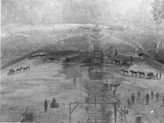 Constructing Enoggera_Reservoir ca. 1864