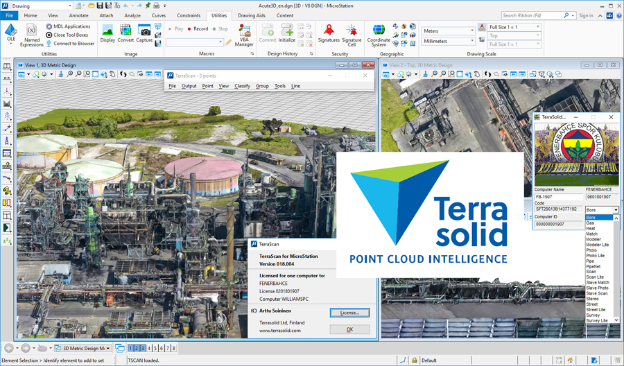 Working with Terrasolid Suite 2019 v19 for Bentley Microstation full