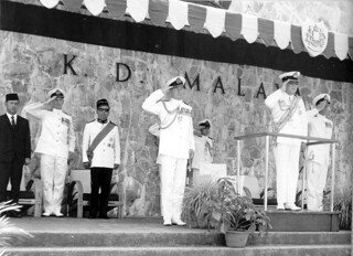 44. Sultan of Johore takes salute at KD Malaya, with Commodo | by Hippy Chippy