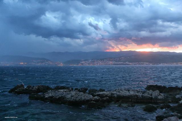 Storm on summer morning