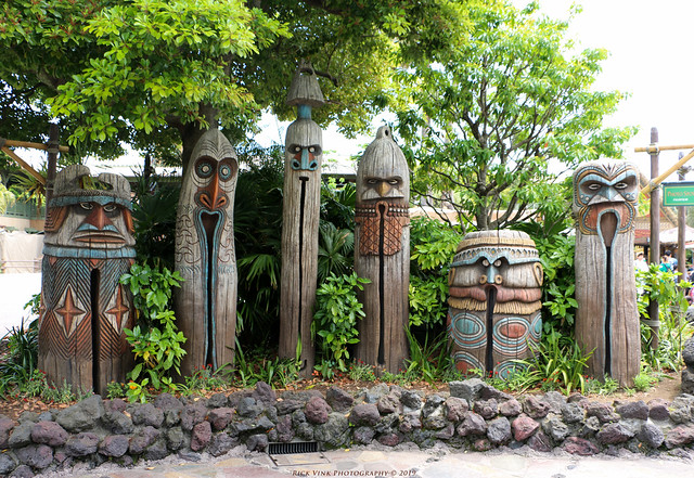 Tiki Gods Outside Walt Disney's Enchanted Tiki Room