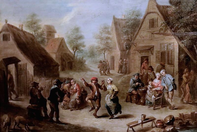 IMG_3561I David Teniers 1610-1690 Anvers  Danse au son de la cornemuse  Dance to the sound of the bagpipes Le Mans  Musée de Tessé  Atelier   Workshop