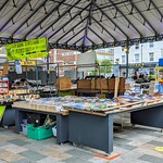 Book stall at Preston market