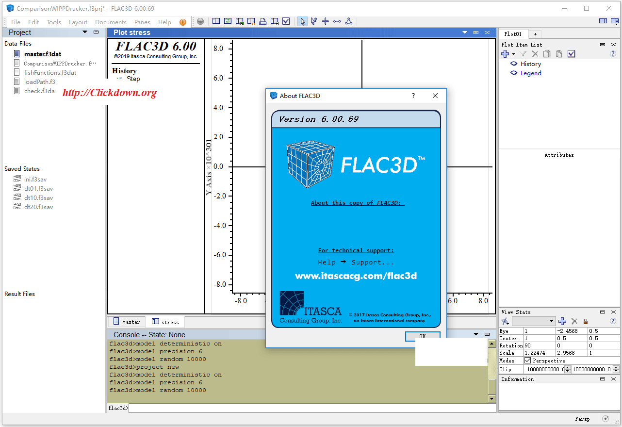 Working with Itasca FLAC3D 6.00.69 full license