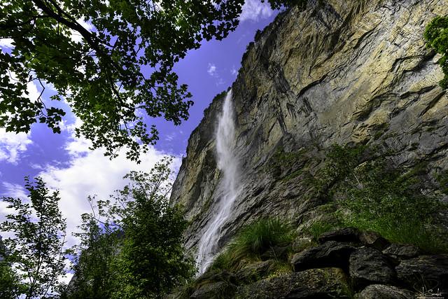 Staubbach Waterfall in Lauterbrunnen - Bern - Switzerland