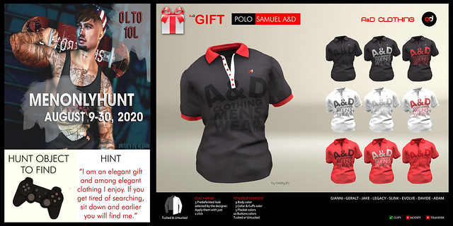 ! A&D Clothing - Polo -Samuel-  A&D - MOH HUNT