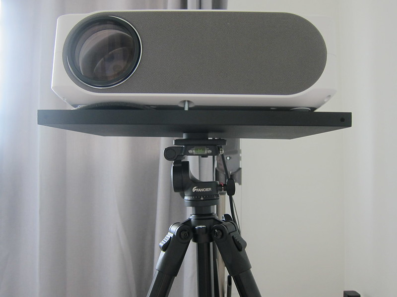 Projector Tray For Tripod Mount - On Tripod - Front