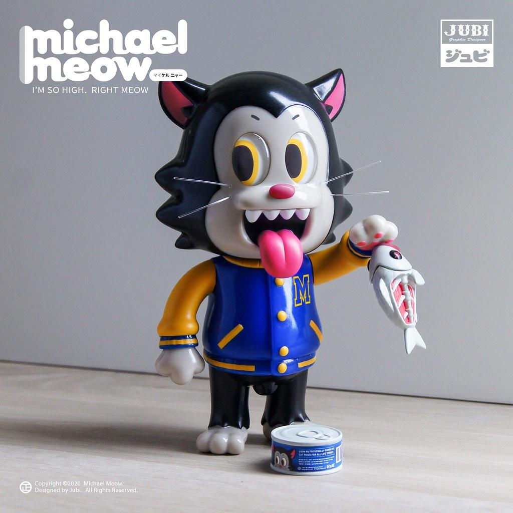 台灣設計師 JUBI 的超可愛最新力作「麥可喵」(Michael Meow)登場! 粉粉的肉球不只療癒還可以吸住貓罐頭~