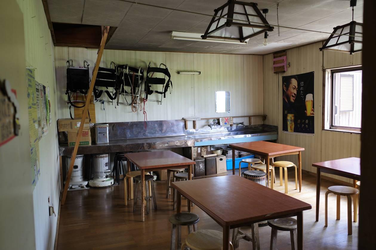 太郎平小屋 自炊室・談話室