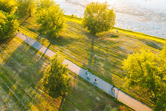 Evening light | Kaunas aerial