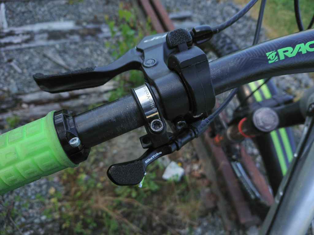Bike Yoke dropper post remote, TRP Spyke ML800, TImberbell