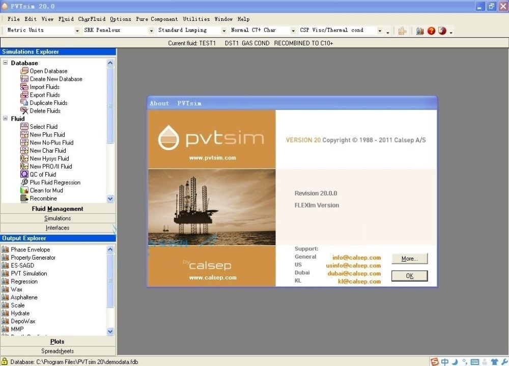 Working with PVTsim 20.0.0 full license