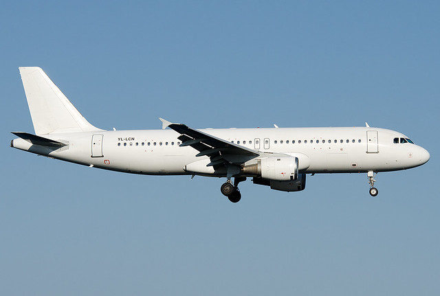 YL-LCN SmartLynx Airlines Airbus A320-233