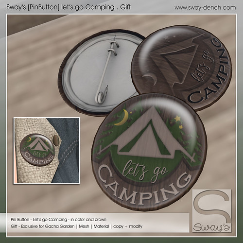 Sway's [PinButton] Camping . Gift | Gacha Garden