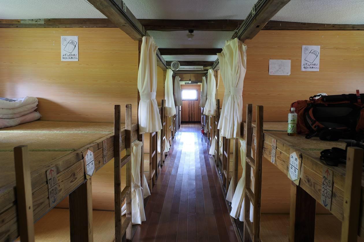太郎平小屋 寝室