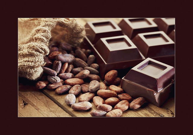 Beans and chocolate