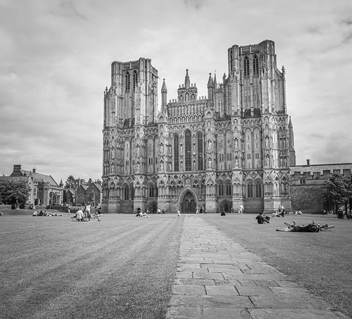 cathedral architecture landscape town church blackandwhite wells