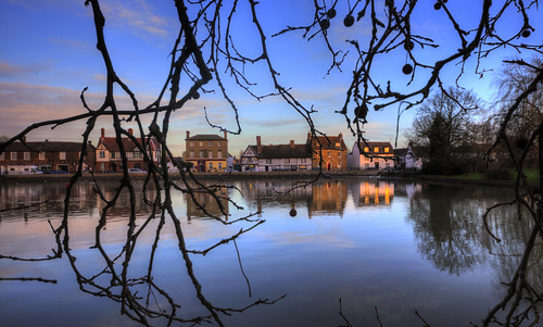 canon6d outdoors outside landscape sky blue houses river calm trees greatouse cambridgeshire uk