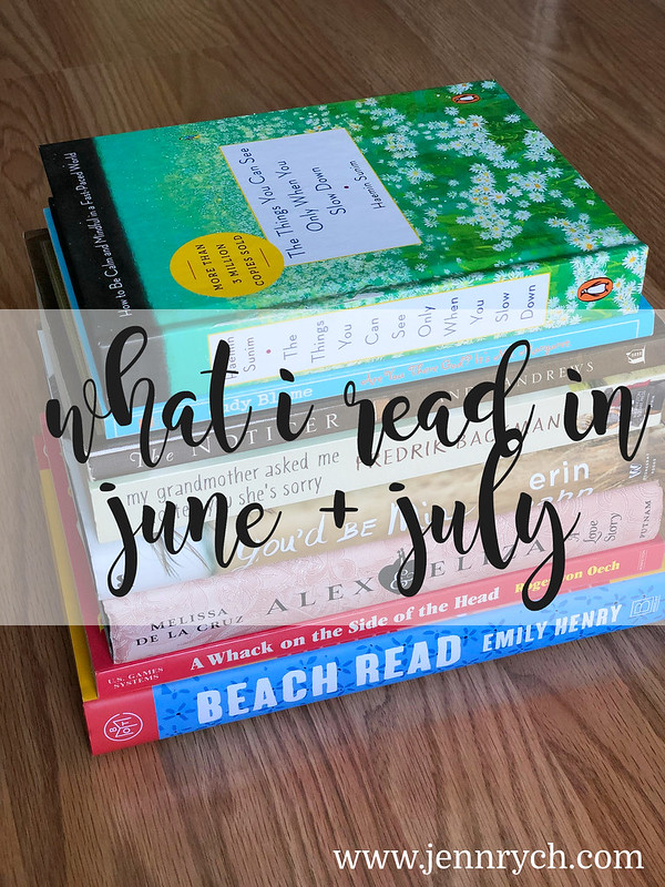 What I read in June + July 2020 | www.jennrych.com