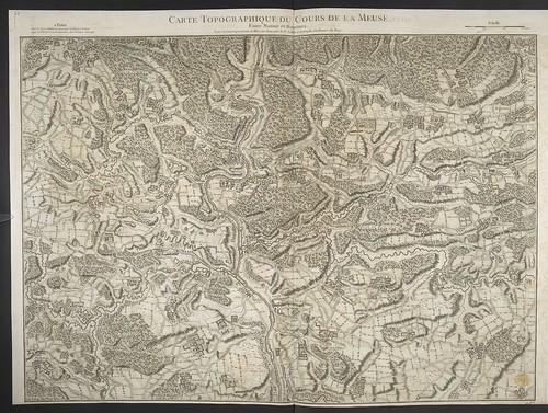 """The BL King's Topographical Collection: """"CARTE TOPOGRAPHIQUE DU COURS DE LA MEUSE"""""""