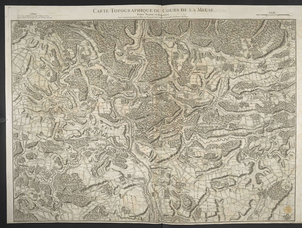 "The BL King's Topographical Collection: ""CARTE TOPOGRAPHIQUE DU COURS DE LA MEUSE"""