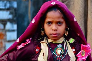 India- Gujarat- Garasia girl in Ambaji