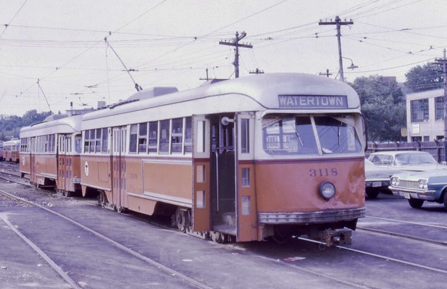 MBTA 3118 +1 at Watertown