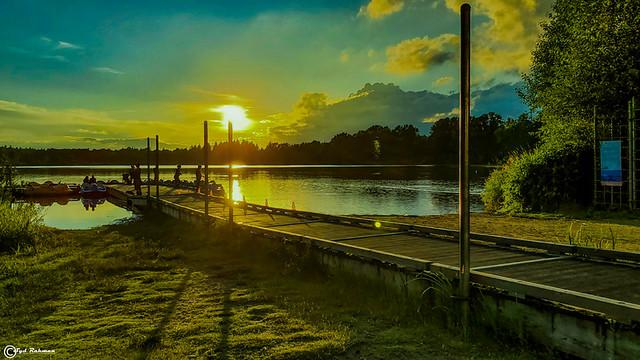Sunset at Deer Lake Park, Burnaby, BC, Canada
