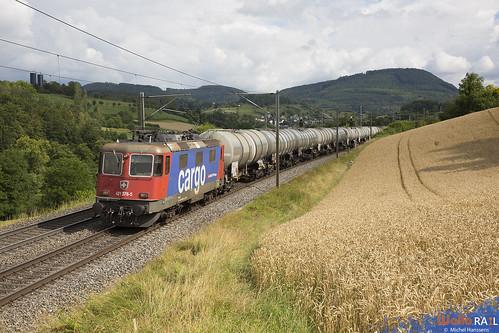 Re 421 376 . SBB Cargo . Hornussen . 17.07.20.