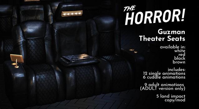 The Horror!~Guzman Theater Seats @ TMD