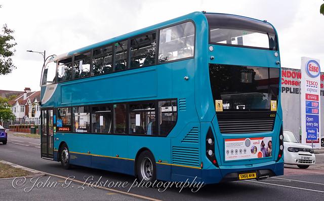 Looking like new again with no main external advertising, Arriva Kent Thameside (Southend) Alexander Dennis Enviro400 MMC 6503, SN66 WHW