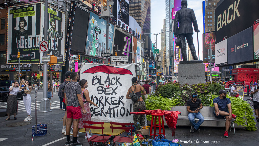"""EXCLUSIVE COVERAGE: BLM calls for """"Black Sex Worker Liberation"""" NYC"""