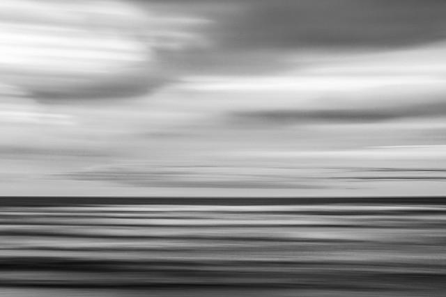 Black & White Borth Abstract