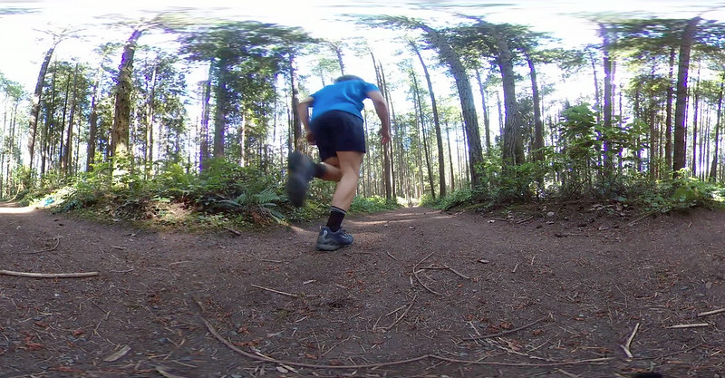 Swiftwick socks running at Bridle Trails